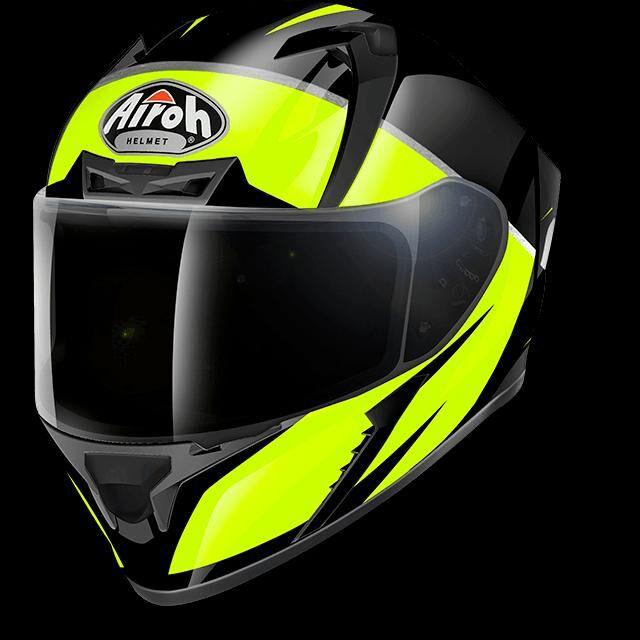airoh casco moto integrale  valor eclipse yellow gloss vaec31