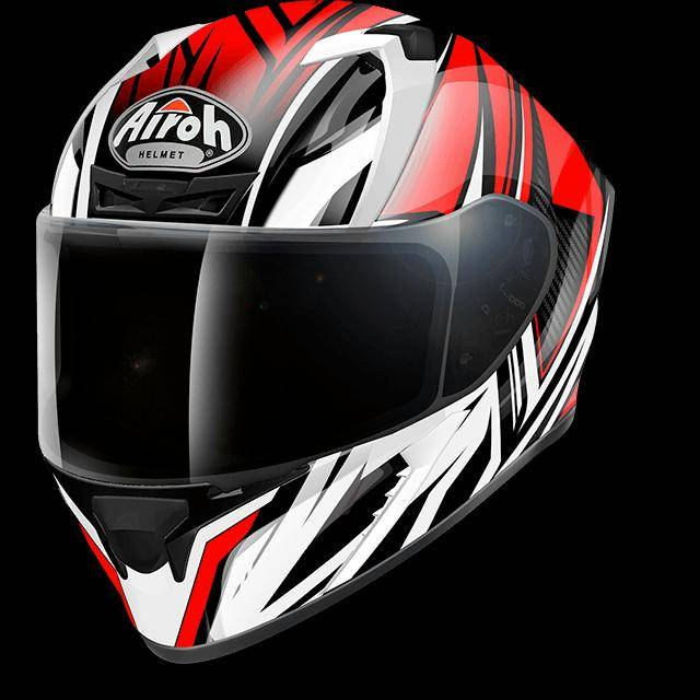 airoh casco moto integrale  valor conquer red gloss vacq55