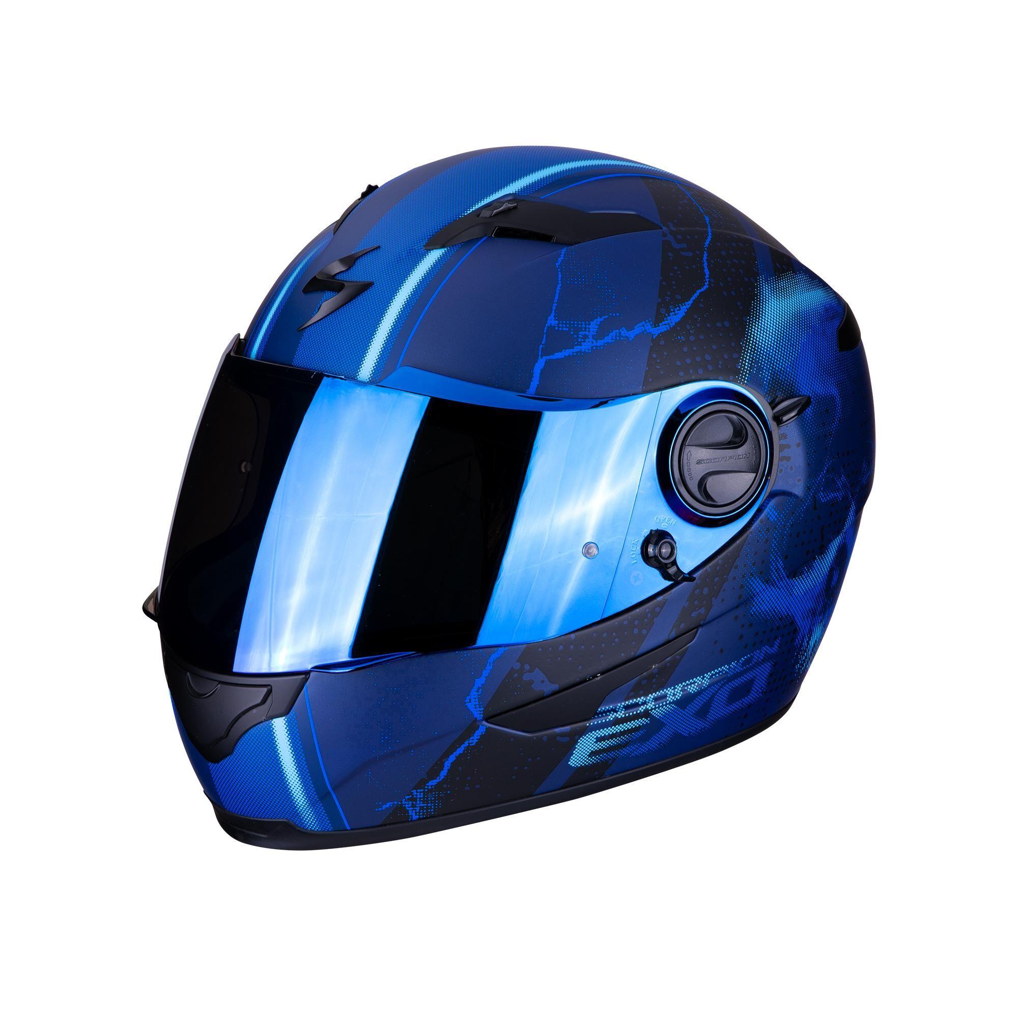 scorpion casco moto integrale  exo-490 air dar matt blue