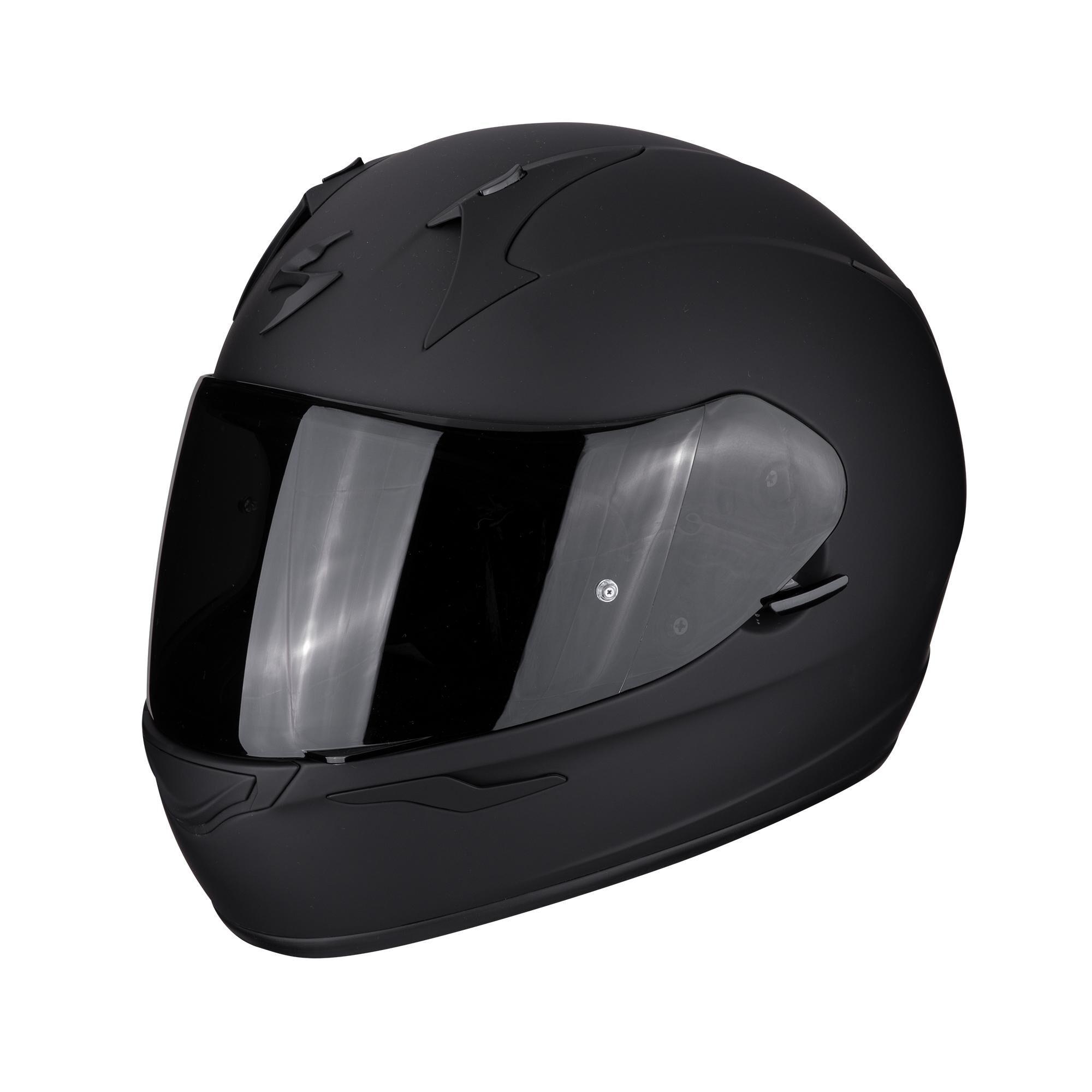 scorpion casco moto integrale  exo-390 solid black matt