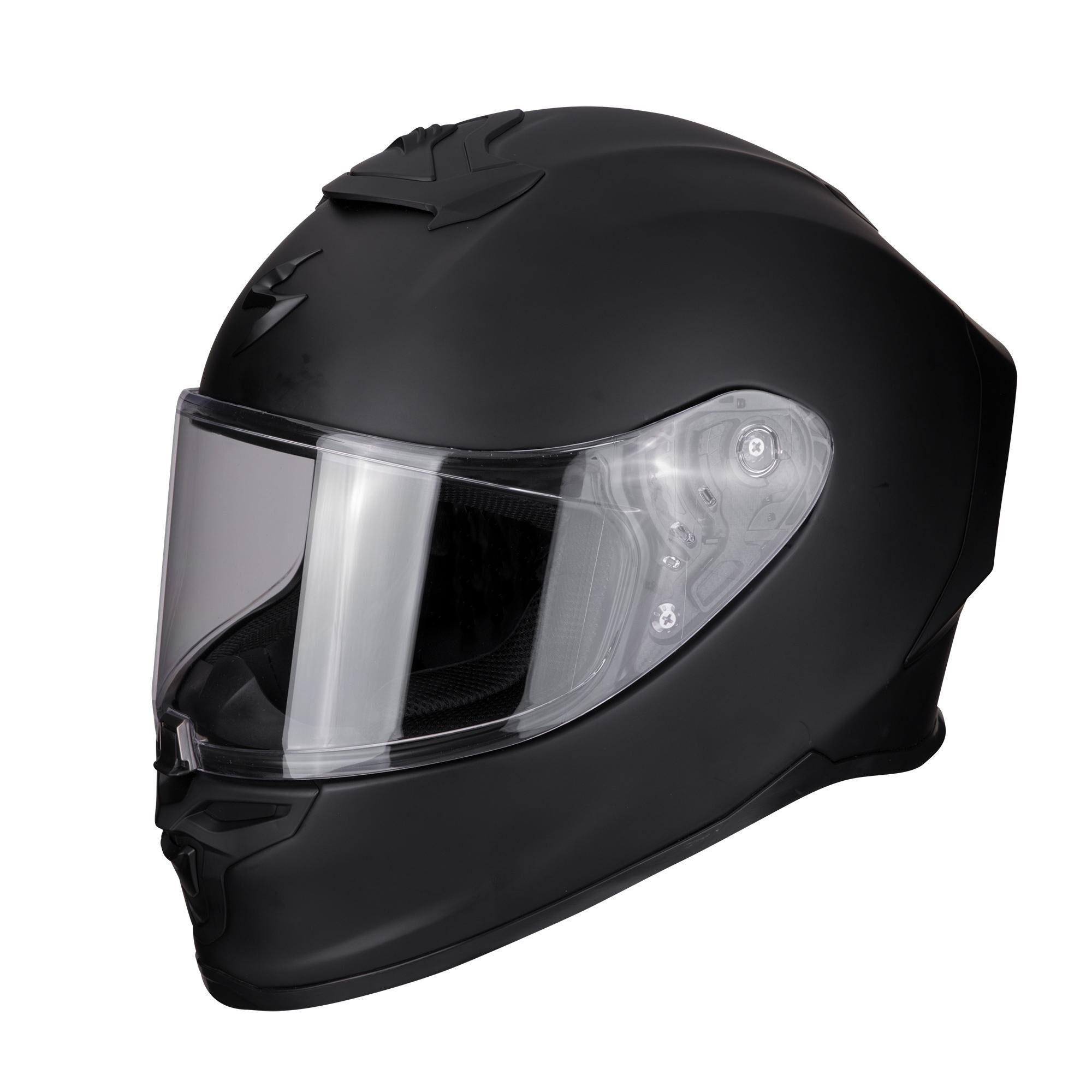 scorpion casco moto integrale  exo-r1 air solid black matt