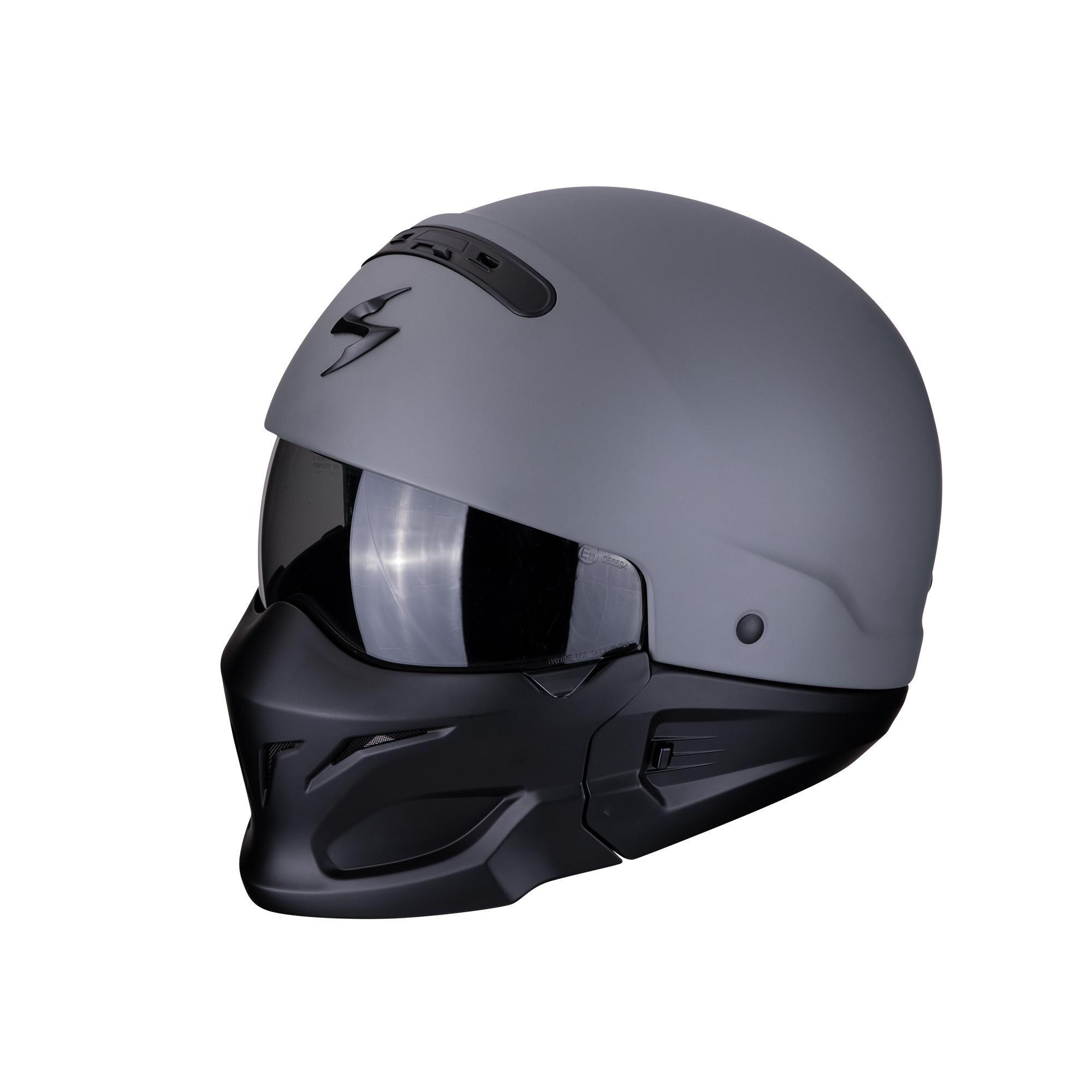 Scorpion Casco Moto Integrale/jet Exo-Combat Solid Cement Grey