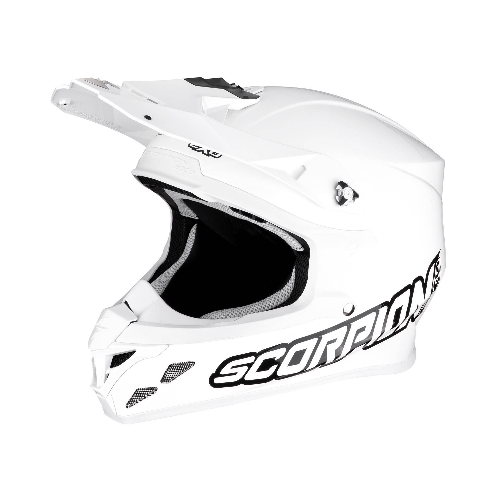 scorpion casco moto cross  vx-21 air solid white