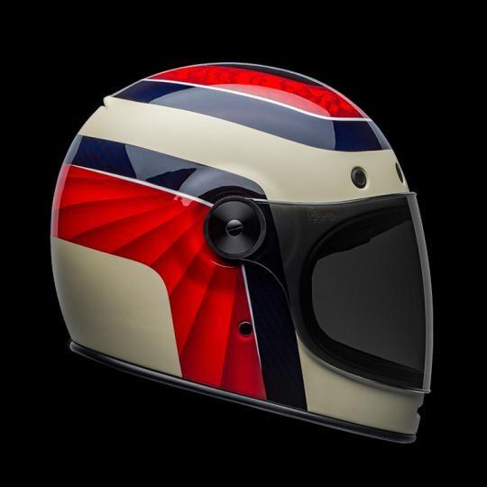 bell casco moto integrale  bullitt carbon hustle matte gloss red sand candy blue