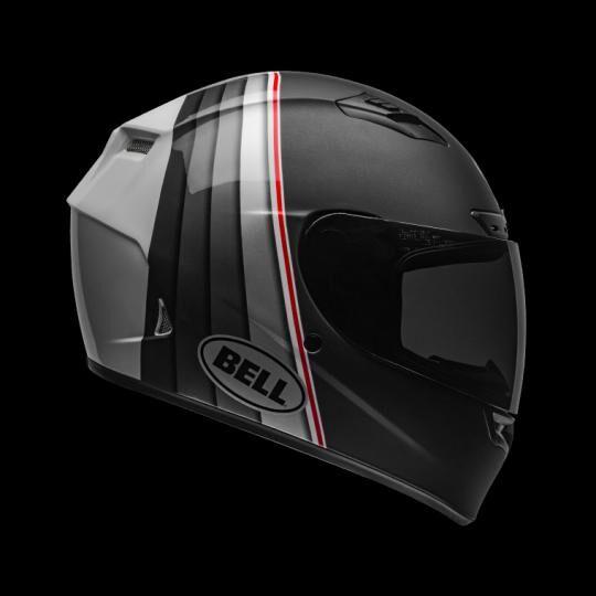 bell casco moto integrale  qualifier dlx mips illusion matte/gloss black/silver/white