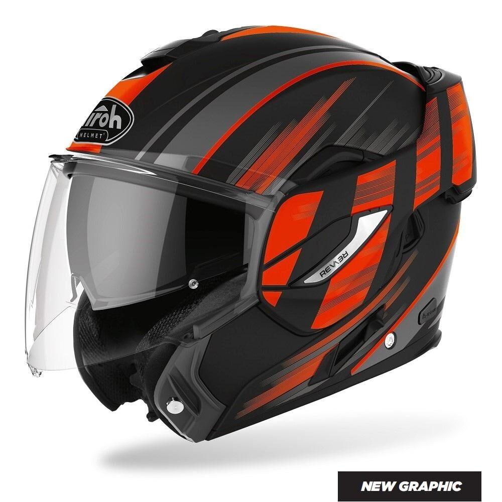 airoh casco moto  rev ikon orange matt 2020 re19ik32