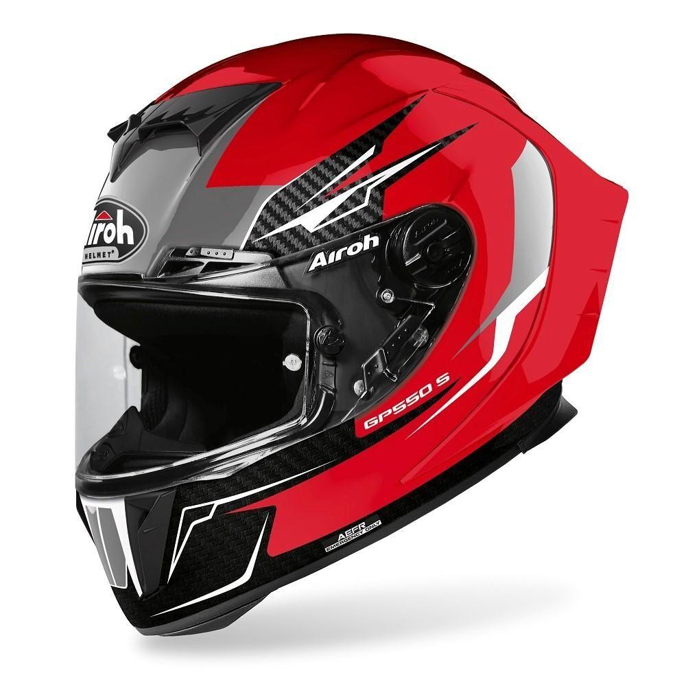 airoh casco integrale moto  gp550 s venom red gloss 2020 gp55v55