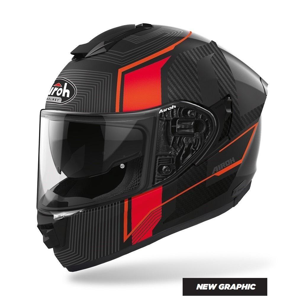 airoh casco integrale moto  st.501 alpha red matt 2020 st.5a55