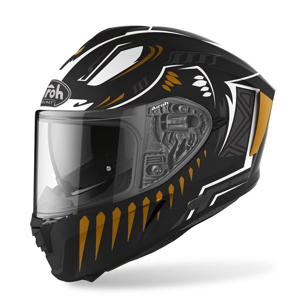 airoh casco integrale moto  spark vibe black matt 2020 spv35