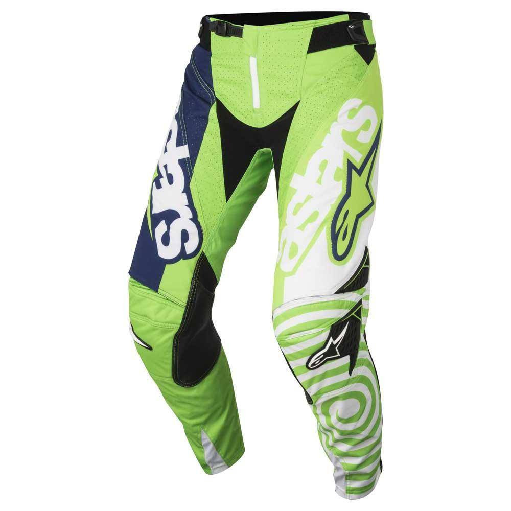 Alpinestars Pantaloni Moto Cross  2018 Techstar Venom Green Fluo White Dark Blue