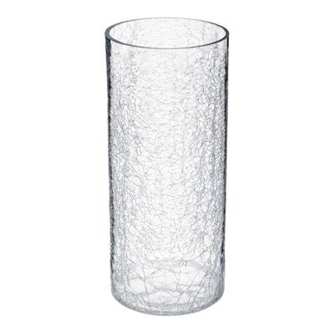 Atmosphera Vaso in vetro, effetto vetro congelato, 30 cm,