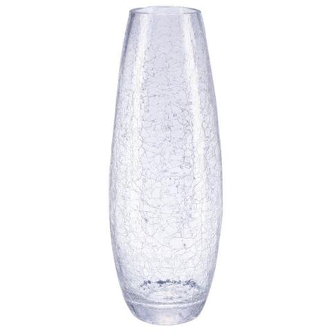 Atmosphera Vaso in vetro, effetto vetro congelato, 40 cm,