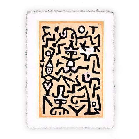 Pitteikon Stampa fine art in carta a mano. Paul Klee -Volantino dei comici. 1932