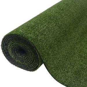 vidaXL Prato Sintetico 0x5,5 m/7-9 mm Verde