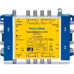TechniSat TechniSwitch 5/8 K Grigio, Giallo