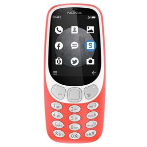 """Nokia 3310 3G 2.4"""" 84.9g Grigio, Rosso, Bianco Caratteristica del telefono"""