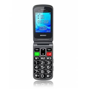 """Brondi Cellulare Brondi Amico FLIP PLUS 2.4"""" Nero"""