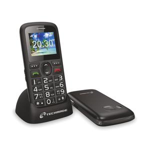 Cellulare per anziani TM-C08BK tasto sos e base di ricarica - Nero