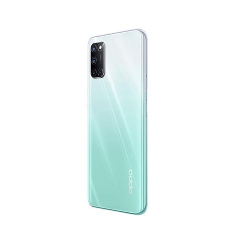 "Oppo A52 Smartphone, 192g, Display 6.5"" FHD+ LCD, 4 Fotocamere 12MP, RAM 4GB + ROM 64GB Espandibile, Batteria 5000mAh, Ricarica Rapida, Dual Sim, [Versione Italiana], Stream White"
