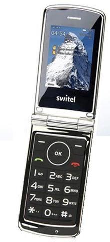 """SWITEL M220 cellulare 6,1 cm (2.4"""") 100 g Nero, Argento Telefono di livello base"""