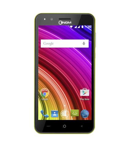 "NGM Mobile You Color E507 plus 12,7 cm (5"") 0,512 GB 8 GB Doppia SIM Nero, Lime 2000 mAh"