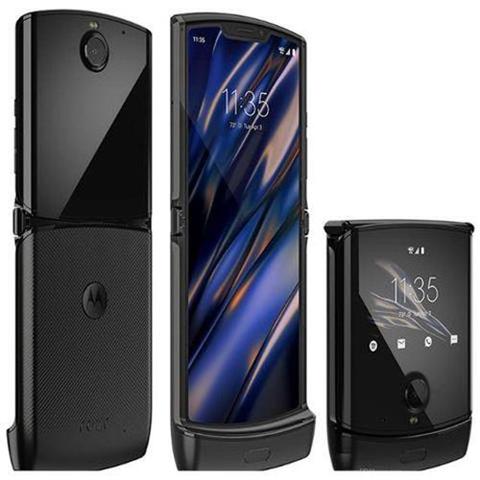"Motorola Razr nero 128 gb dual sim display 6.2"" hd+ fotocamera 16 mpx android windtre italia"