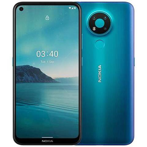 "Nokia 3.4 blu 64 gb dual sim display 6.39"" hd+ slot micro sd fotocamera 13 mpx android"