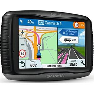 """Garmin Zumo 595LM EU Navigatore per Moto Avanzato, Mappa Italia e Europa Completa, Spotify e Funzioni Smart, Display 5.0"""", Nero/Grigio"""