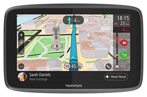 TomTom GO 6200�Navigatore GPS per Auto, Display da 6, Scheda SIM Integrata, Aggiornamenti Tramite Wi-Fi, Chiamate Hands-Free, Nero [Versione EU]