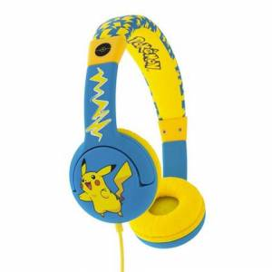 OTL Technologies Pokémon Pikachu Cuffie Padiglione auricolare Blu, Giallo