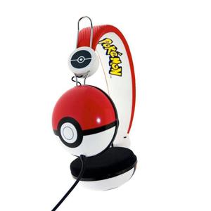 OTL Technologies Pokémon Pokeball Cuffie Padiglione auricolare Nero, Rosso, Bianco