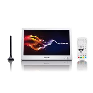 """Lenco TFT-1028 10"""" TFT 1024 x 600Pixel Bianco TV portatile"""