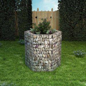 vidaxl gabbione letto rialzato da giardino esagonale 100x90x100 cm