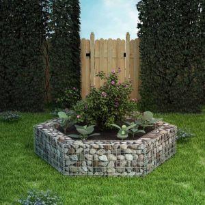vidaxl gabbione letto rialzato da giardino esagonale 200x173x40 cm