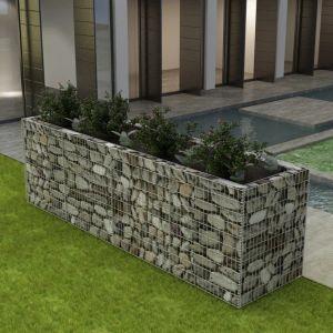vidaxl gabbione letto rialzato da giardino in acciaio 360x90x100 cm
