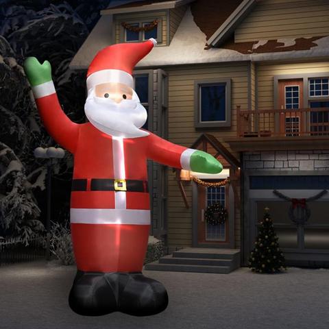 vidaXL Babbo Natale Gonfiabile Decorazione con LED IP44 4,5 m