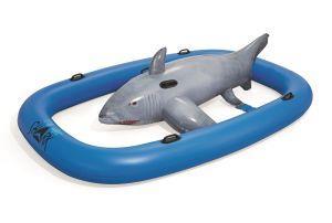 bestway 41124 galleggiante da piscina e da spiaggia nero, blu, grigio gonfiabile cavalcabile vinile