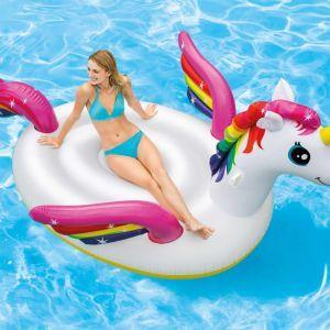 intex galleggiante per piscina mega unicorn island 57281eu