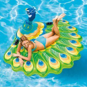 intex galleggiante per piscina peacock island 57250eu