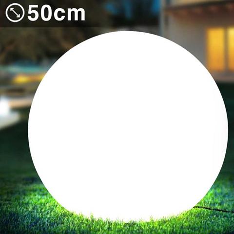 nd lampada sfera da giardino 50cm luce illuminazione esterno attacco e27 bianco