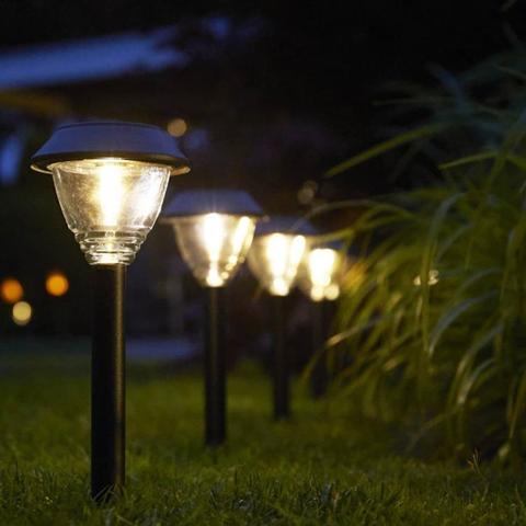 luxform faretti solari a led da giardino kodiak 2 pz