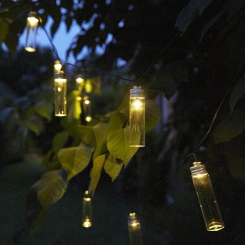 luxform luci led solari per feste in giardino 14 pz gordo trasparente