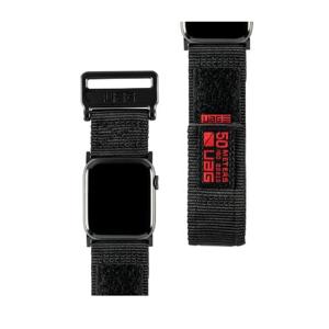 Urban Armor Gear 19149A114040 accessorio per smartwatch Band Nero Nylon, Acciaio inossidabile