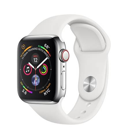 Apple Watch Series 4 OLED 40 mm Acciaio inossidabile 4G GPS (satellitare)