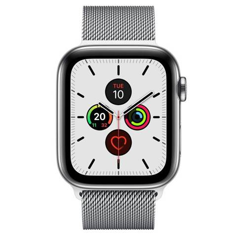 Apple Watch Series 5 44 mm OLED 4G Acciaio inossidabile GPS (satellitare)