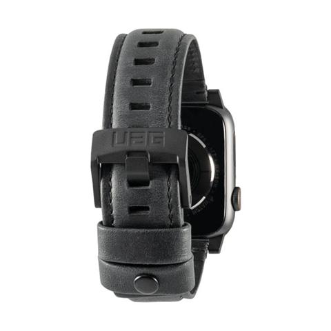 Urban Armor Gear 19148B114040 accessorio per smartwatch Band Nero Pelle, Acciaio inossidabile