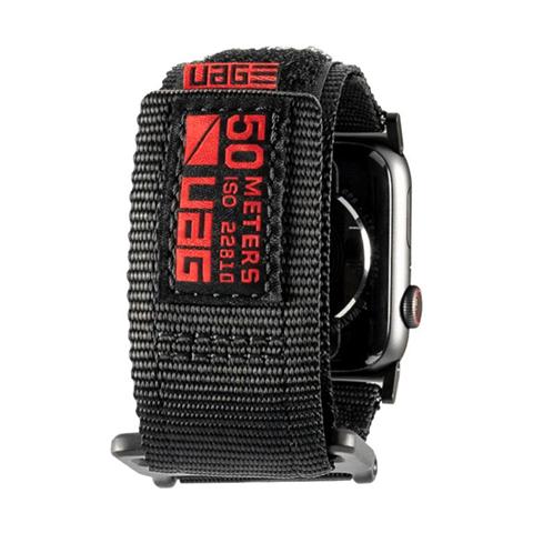 Urban Armor Gear 19148A114040 accessorio per smartwatch Band Nero Nylon, Acciaio inossidabile