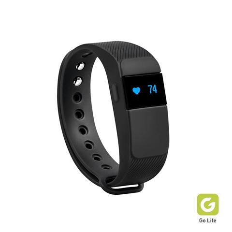 Fitness tracker con contapassi, cardiofrequenzimetro e monitoraggio del sonno, integrato con app gratuita Go Life per Android e iOS.