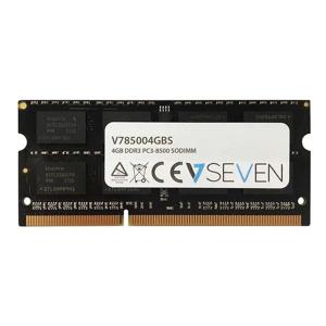 V7 4GB DDR3 PC3-8500 - 1066mhz SO DIMM Notebook Módulo de memoria - V785004GBS