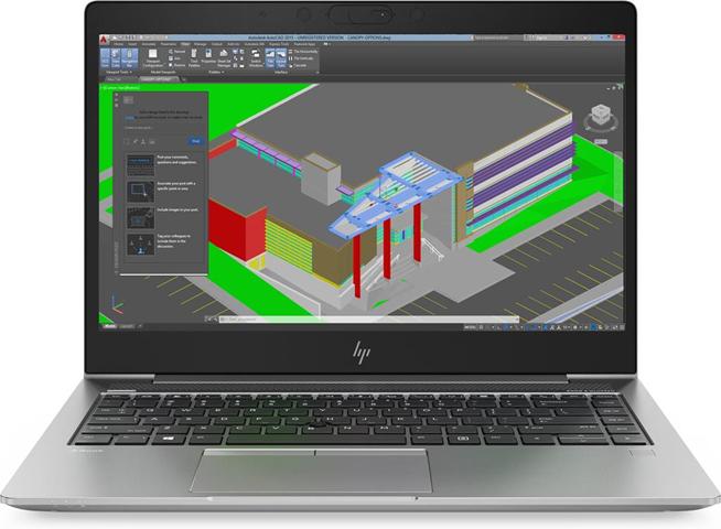 """HP ZBook 14u G5 Argento Workstation mobile 35,6 cm (14"""") 1920 x 1080 Pixel Intel® Core™ i7 di ottava generazione i7-8550U 16 GB DDR4-SDRAM 512 GB SSD"""